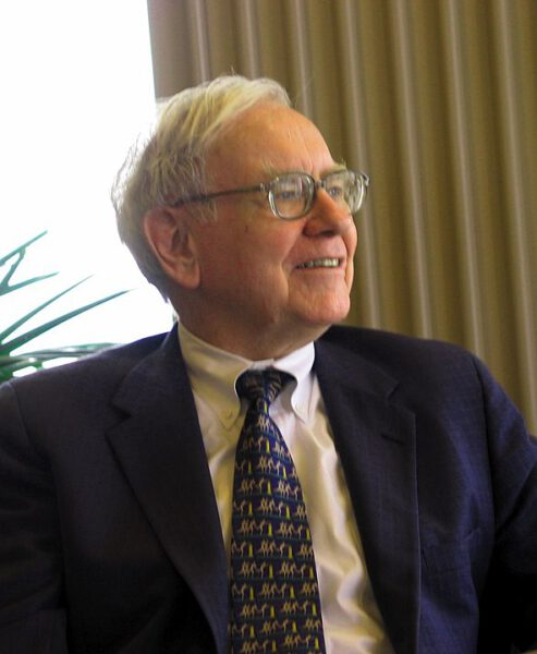 Warren Buffett speaking to a group of students from the University of Kansas School of Business